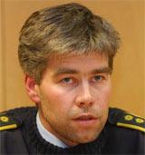 Politiinspektør Atle Roll-Matthiesen under pressekonferansen på Fagernes. Foto: Knut Fjeldstad / SCANPIX