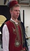 Kristian Børs i kaffeskjenkar uniform
