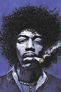 Jimi Hendrix' siste dager blir film. Foto: Postershop.com.