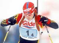 Kati Wilhelm skjøt feilfritt på sprinten i Östersund. (Foto. Knut Fjelstad/scanpix)