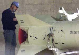 Al Samoud-rakett (Foto: Reters).