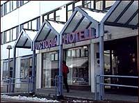 Inngangspartiet  til Victoria hotell i Markegata. (Foto: NRK)