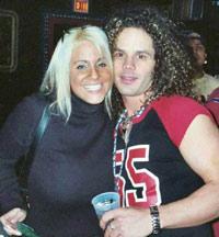Heidi og Ty Longley på House of Blues før jul 2002. Foto: tylongley.com