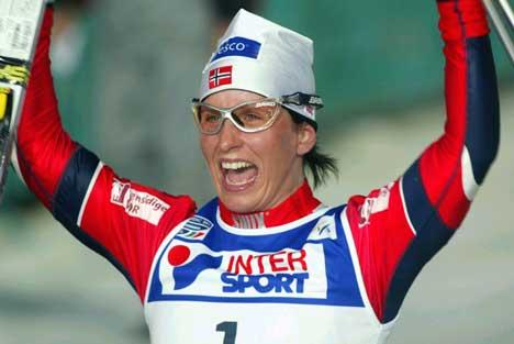 Marit Bjørgen jubler over VM-gull (Foto: Terje Bendiksby/Scanpix)
