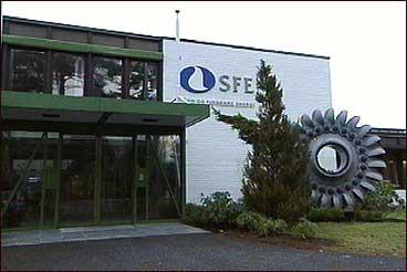 Hovudkontoret til Sogn og Fjordane Energi ligg på Sandane. (Foto: NRK)
