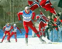 Kenneth Braaten gikk en veldig god sprint i Lahti på lørdag. Her fra VM i Val di Fiemme.