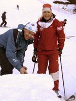 er bakkesjef og har spadd kuler som skal passe godt for Kari Traa under helgens verdenscupfinale på Voss. Foto: Marit Hommedal/SCANPIX