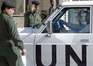 FN sine våpeninspektørar reiser frå Bagdad i dag. (Arkivfoto: F. Khelberg, Reuters)