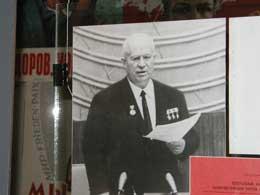 Nikita Krustsjov avbildet fra den 20. partikongress der han fordømte Stalin i 1956.