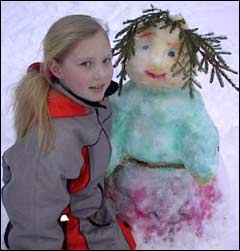 Lise Lotte med sin trollkjerring