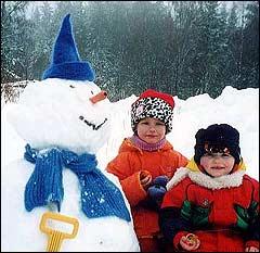 Klassisk Blånisse-snømann