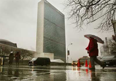 Arbeidet med planen er gjort her i FN-hovudkvartertet i New York. (Foto: Getty Images)