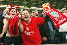 Liverpool-fansen er blant de som har bidratt til økningen. (Foto: Ben Radford/Getty Images)