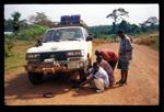 Bilen Kåre Lund kjørte i Liberia.