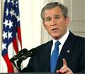 President George W. Bush viste til bevisdokumenta i ein tale til nasjonen. (Foto: Getty Images)
