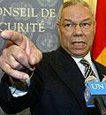 Colin Powell presser sikerhetsrådet hardt i striden om Irak. (Foto: Reuters/Scanpix)