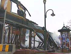 News brant ned i den store bybrannen i Trondheim.