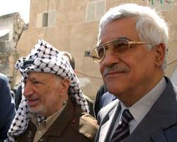 President Arafat og statsministerkandidat Abbas krever fredsgarantier. (Foto: H.Hussein, Reuters)