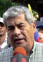Fagforeningsleder Carlos Ortega fotograafert i Caracas for snart et år siden. (Foto: O.Sabetta, Getty Images)