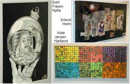Elevane i Førde får lage kunst, men ikkje gå på utstilling. Verk frå Ungdommens kulturmønstring 2003.