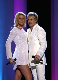 Gruppa Fame vant den svenske melodi Grand Prix-finalen. Foto: Scanpix.