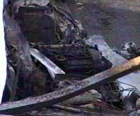 Den utbrente bilen hvor Zia Anwar ble funnet.