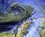 Satellittbilde av stormen Foto: DNMI