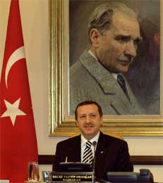 Tyrkias stasminister Tayyip Erdogan (REUTERS/Stringer )