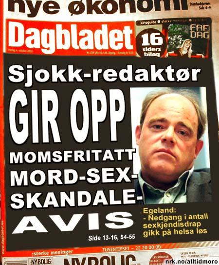 2003: Dagbladets ansvarlige redaktør John Olav Egeland går av på grunn av stort arbeidspress. (Alltid Moro)
