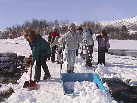 Det er Geilo skole som arrangerer barneski-rennet for for hele Hol kommune. Alle foto: Gunnar Grimstveit.