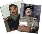 Saddam Hussein viste seg på fjernsyn i kveld. (Arkivfoto)