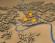 Se stort kart over Bagdad med trefningspunktene.