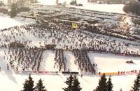 Birkebeinerrennet går fra Rena til Lillehammer.