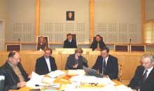 Sakkyndige i barnedrapssaken, fra venstre Olav A Haugen, Harald Aarset, Kristen Rasmussen, Michael Setsaas og Andreas Hamnes (Foto: Gorm Kallestad/Scanpix)