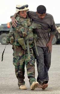 Det kan gå mot en lang og blodig krig for de amerikanske og irakiske soldatene. (Foto: Reuters)