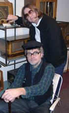 Vetle-Ivar (foran) og redaktør Tokvam.