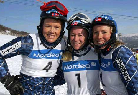 Trine Bakke, Line Viken og Lisa Bremseth (Foto: Gorm Kallestad/Scanpix)