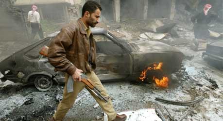 En rakett traff et marked i Bagdad i formiddag. Minst 15 mennesker skal være drept. Foto: Reuters Goran Tomasevic