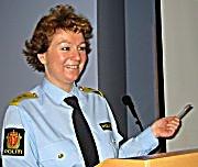 Politimester Christine Fossen i Søndre Buskerud Politidistrikt