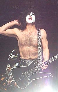 Kiss: Vokalist Paul Stanley. Foto: Kissonline.com.