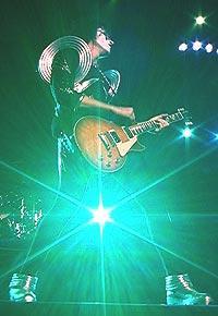Kiss: Gitarist Ace Frehley. Foto: Kissonline.com.