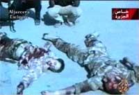 Al Jazeeras bilde av det som trolig er drepte briter (REUTERS/Al Jazeera TV )