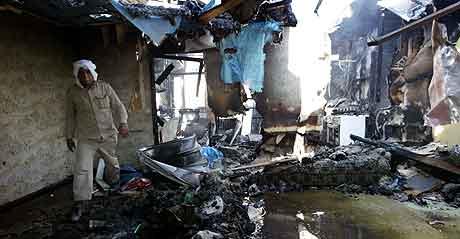 Et bombet hjem i Bagdad. Foto: Faleh Kheiber, Reuters