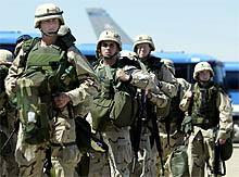 Det blir utskifting av dei amerikanske soldatane i Bagdad. (Reuters-foto)