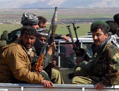 Kurdiske soldatar har innteke Kirkuk, og no står for Mosul for tur. (Reuters-foto)