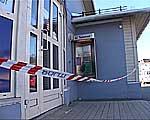 Politiet sperret av kiosken på Mørkved.