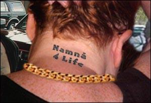 Enkelte medlemmer i Namnå-crewet har tatovering.