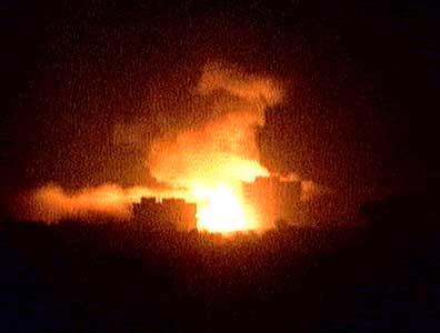 Bombene over Bagdad sist natt.