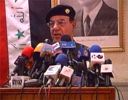 Iraks informasjonsminister Mohammed Saeed-al Sahaf.