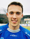 Stig Haugland scora tre mål for Hødd mot Start.